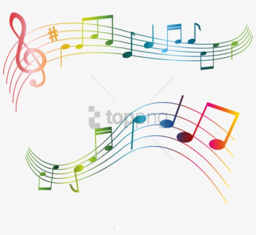 Free Png Color Music Notes Png Png Image With Transparent - Quelques Notes De Musique, transparent png #9821446