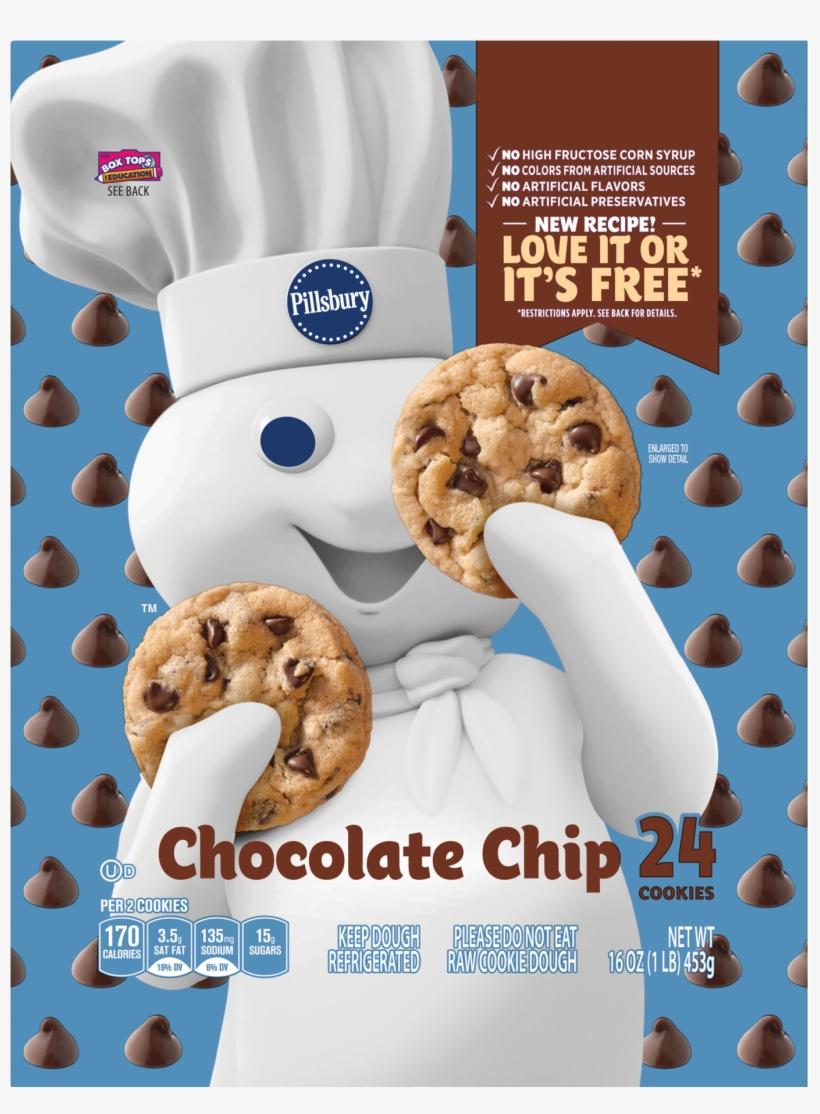 Pillsbury Ready To Bake Chocolate Chip Cookies, 24 - Pillsbury Chocolate Chip Cookies, transparent png #9823295