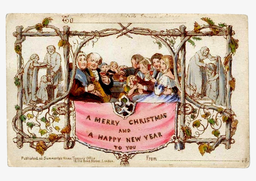 Greetings - Nativity Vintage Merry Christmas, transparent png #9824328