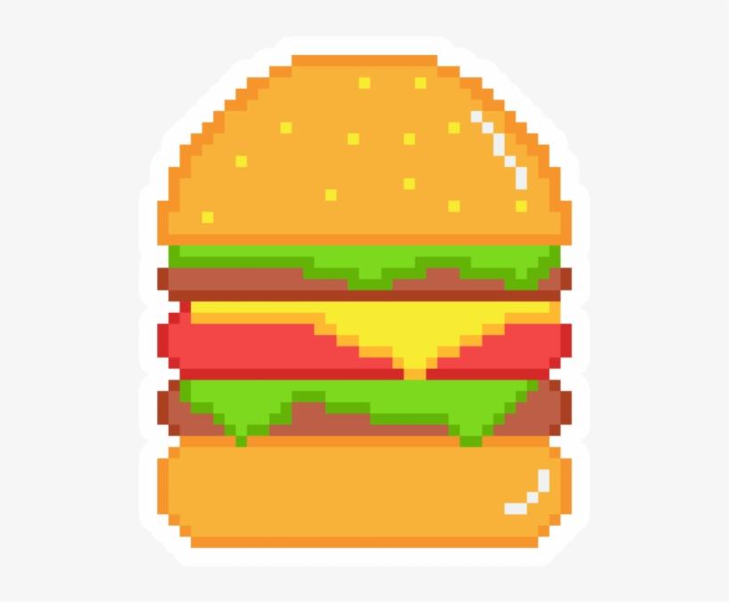 Pixel Art Burger Stickers Melon Gif Animated Free