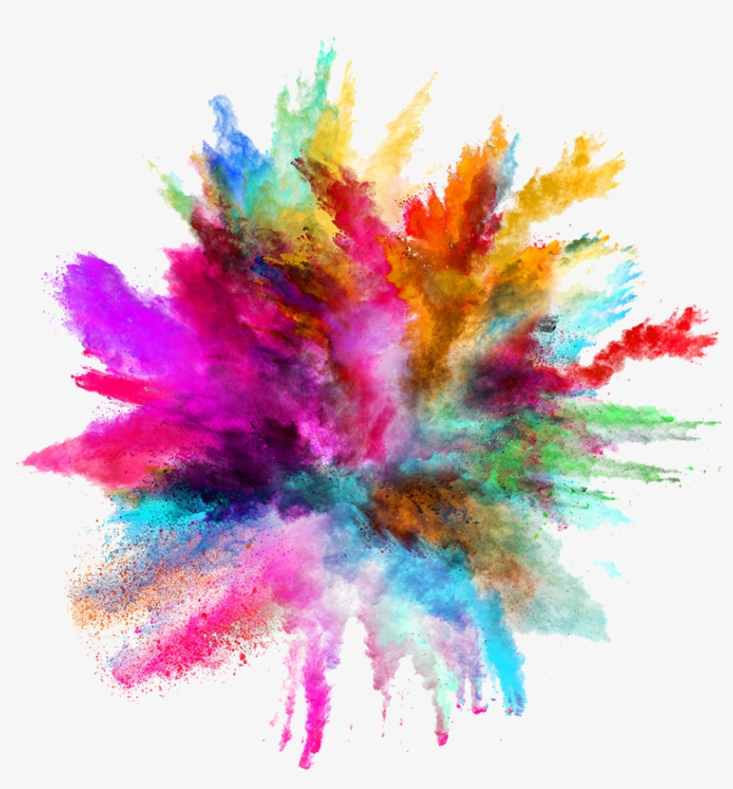 #smoke #colors #powders #explosive #explosivecolor - Splash Of Color Background, transparent png #9830379