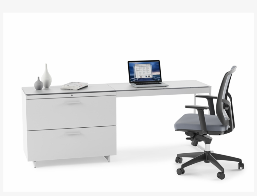 Centro 6416 File Cabinet - Contemporary Computer Desk With Cabinet Space, transparent png #9831602