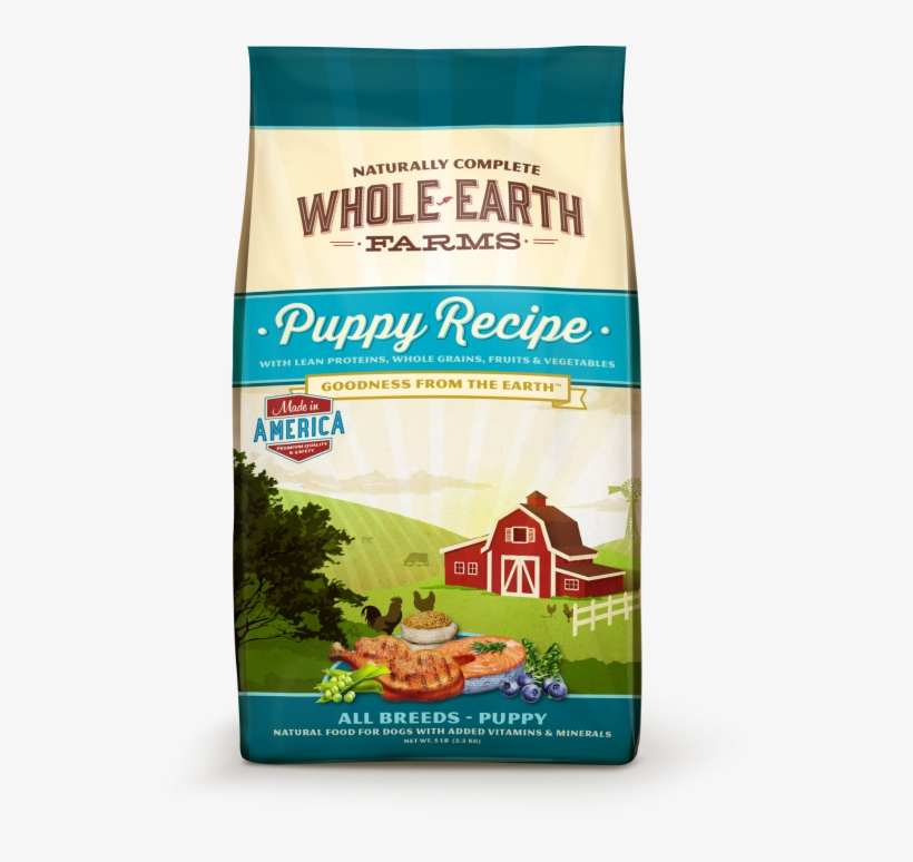 13735461 13735461 Image Wef Puppy - Whole Earth Farms Dog Food Puppy, transparent png #9834398
