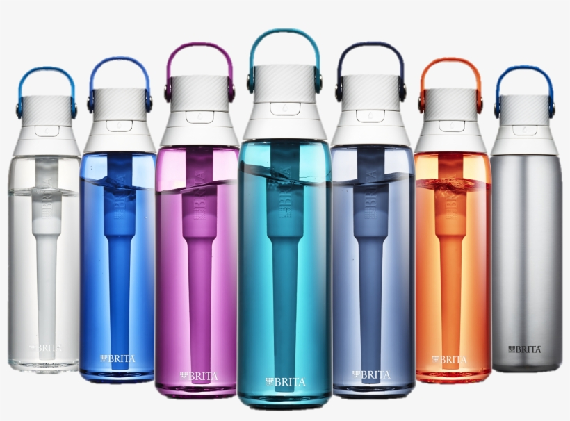 Brita 26 Ounce Premium Filtering Water Bottle With - Brita Premium Water Bottle, transparent png #9836000