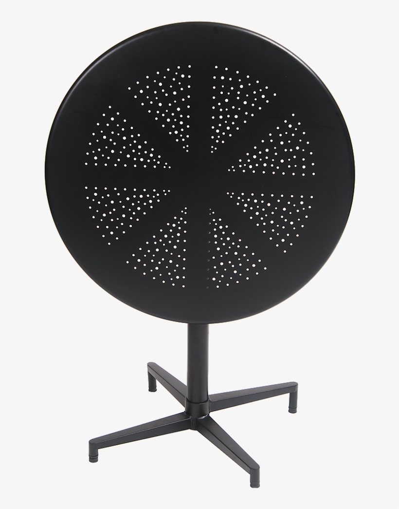 """30"""" Round Indoor/outdoor Metal Folding Table In Black - Outdoor Table, transparent png #9841699"""