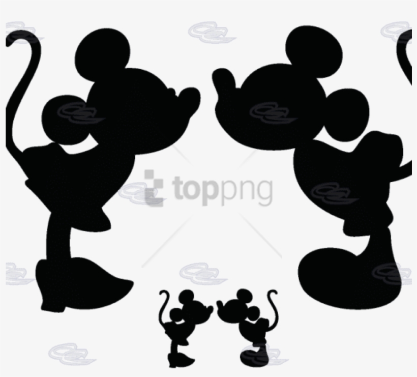 Free Png Mickey Mouse And Minnie Mouse Silhouette Png Minnie And