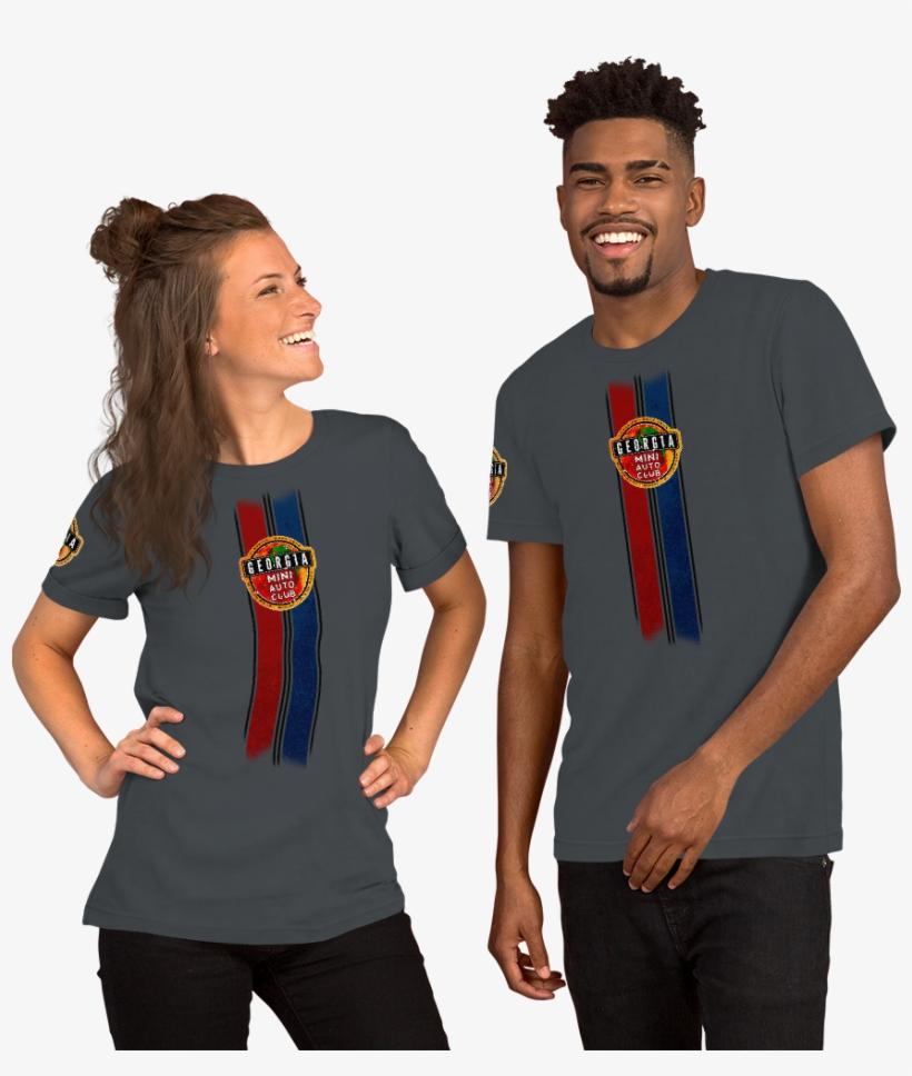 Gaminiac Racing Stripes Short Sleeve Unisex T Shirt - T Shirt If Ye Love Me Keep My Commandments, transparent png #9850458