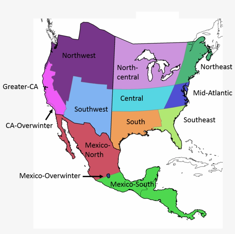Regions Of Mexico Map Com In - North America Countries And ...