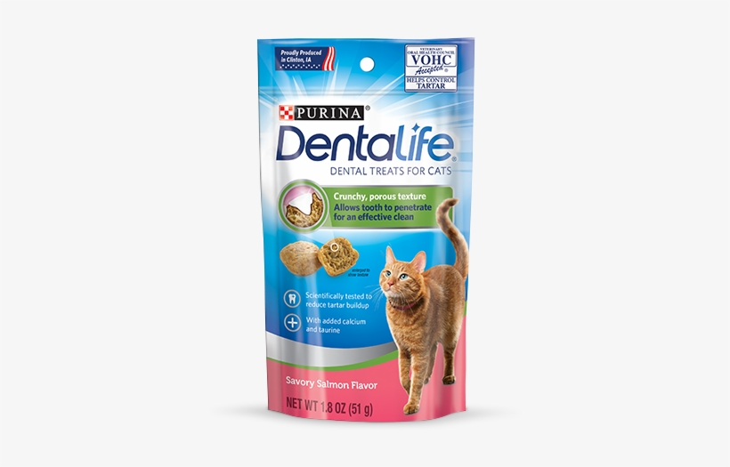 Salmon Cat Dental Treats - Purina Dentalife Cat, transparent png #9854215