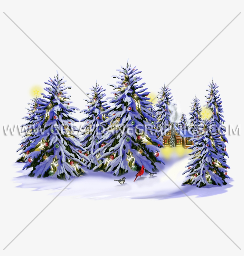 Christmas Snow Trees - Christmas Tree, transparent png #9865812