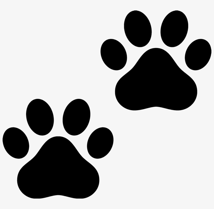 Free Clemson Tiger Paw Print Png - Cat Paw Black And White, transparent png #9873367