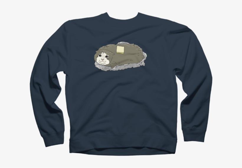Baked Potato Kitty Sweatshirt - Pig New Year 2019 T Shirt Design, transparent png #9874143