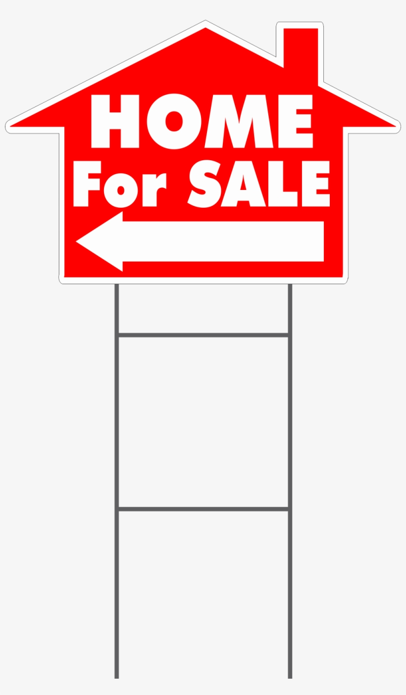Home For Sale House Shaped Yard Sign - Sign, transparent png #9874729
