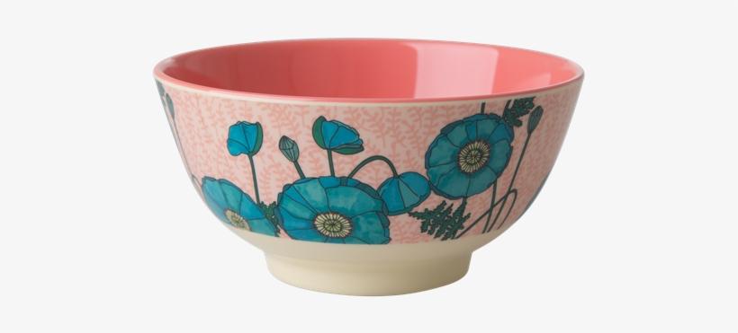 Poppy Melamine Rice Bowl - Bowl, transparent png #9877754