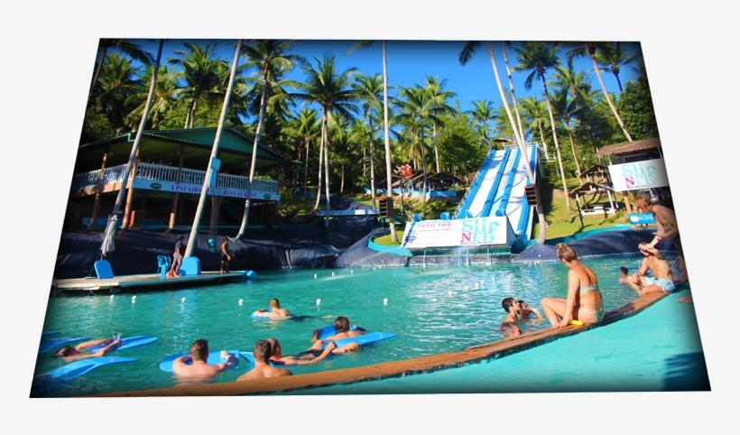 Deep Slide Pool Slip N Fly, Park Facilities - Water Park, transparent png #9881240