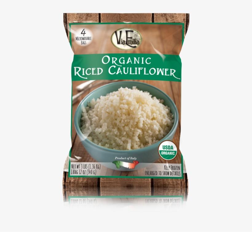 Via Emilia Organic Riced Cauliflower, transparent png #9883540