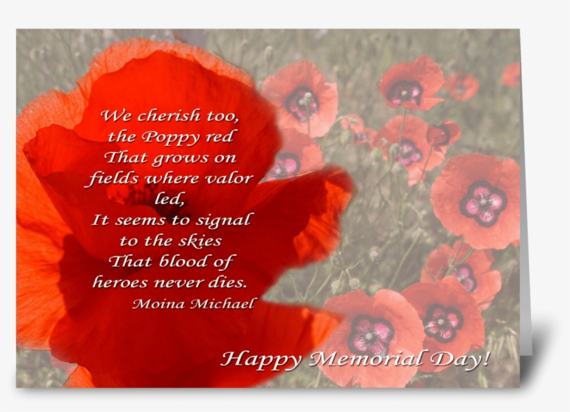Poppy Head With Poem - Christmas Card, transparent png #9890980