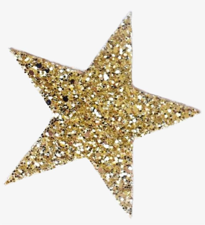 #gold Sparkly Star #freetoedit - Gold Sparkle Star Png, transparent png #9894544