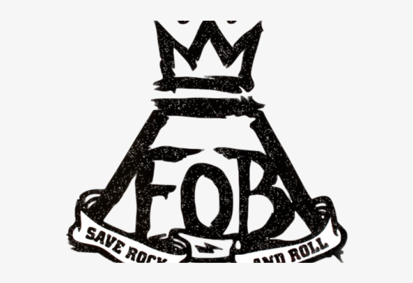 Logo Clipart Fall Out Boy - Fall Out Boy Logo Save Rock And Roll, transparent png #9899135