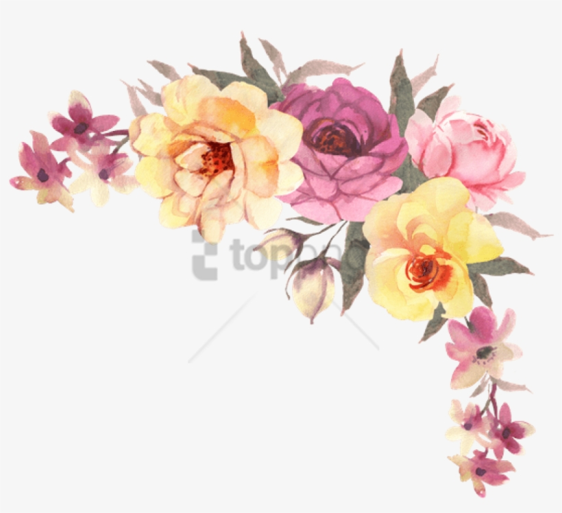 Free Png Transparent Watercolor Flowers Png Image With - Bohemian Watercolor Flower Png, transparent png #9899817