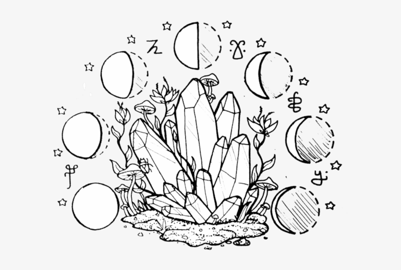 28 Collection Of Crystal Cluster Drawing Tumblr - Transparent Crystal Drawing, transparent png #991146