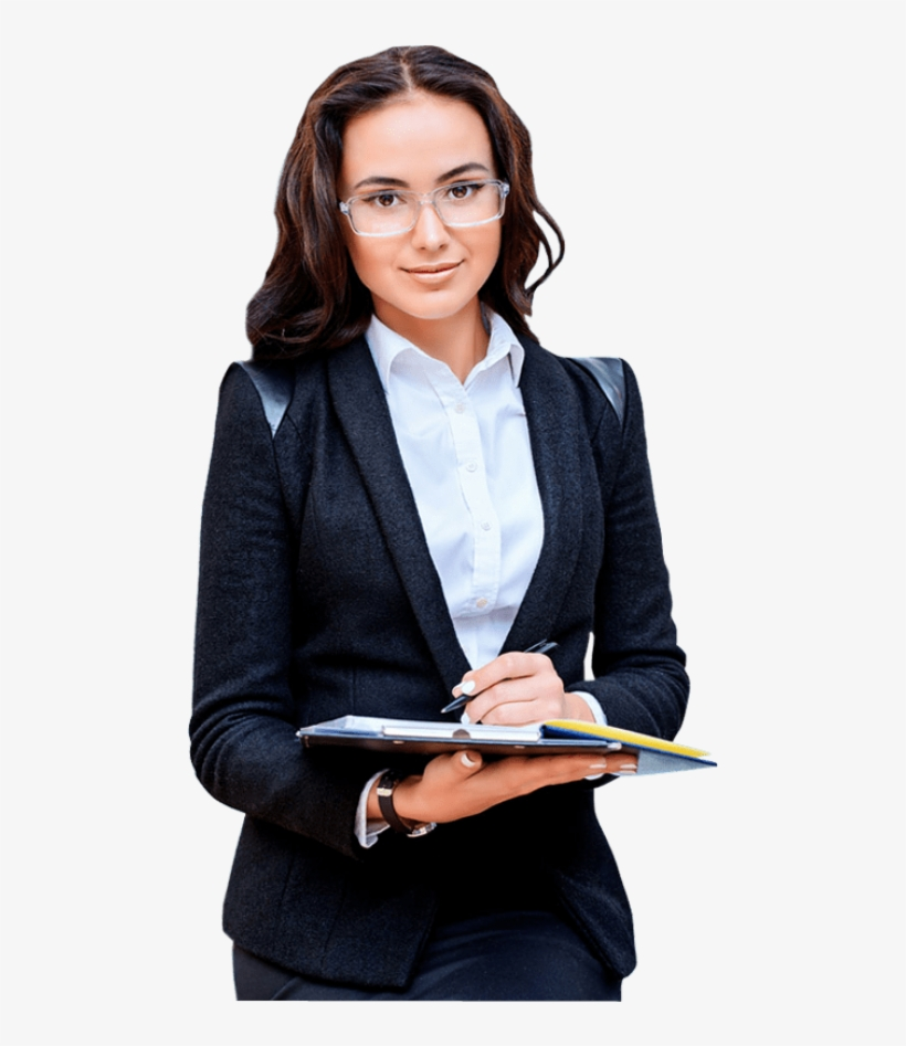 Young Pretty Business Woman Wearing Glasses Taking - Young Business Woman Png, transparent png #991655