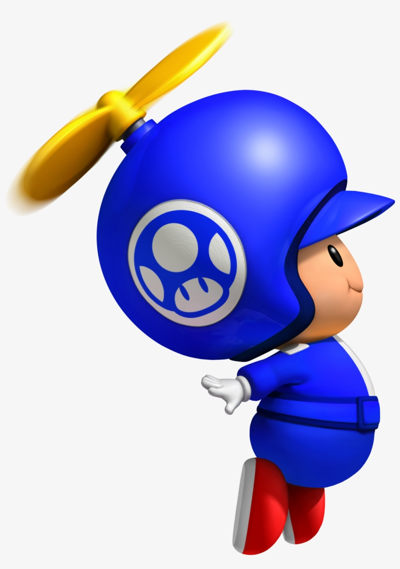 Blue Propeller Toad Pinterest Toad And Anime Png New - New Super Mario Bros Wii Blue Toad, transparent png #992178