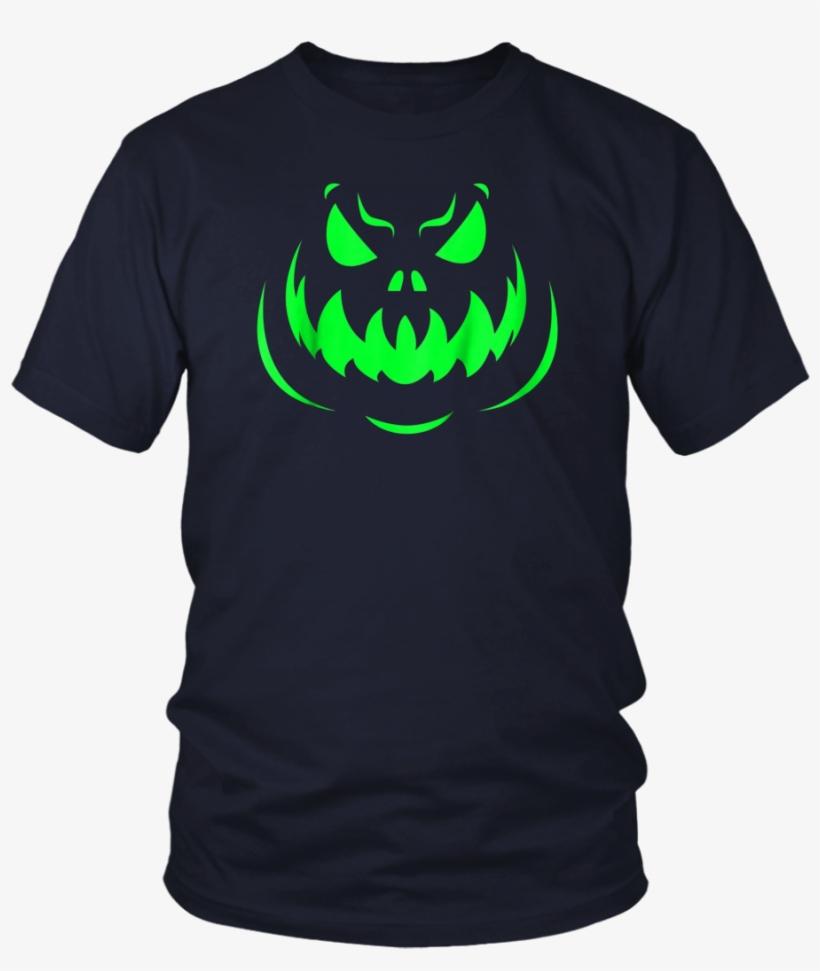 Scary Face Halloween Dark Green T-shirt - Halloween T-shirt. Hocus Pocus Shirt. Cat Tshirt Ghost, transparent png #993352