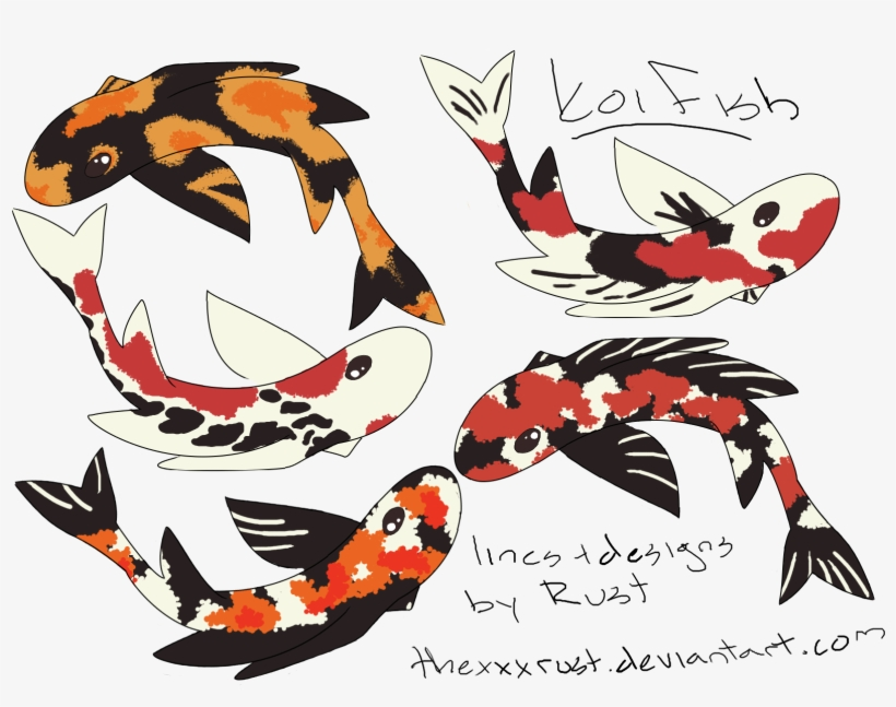 Png Black And White Stock Or Dragon Adoptables By Thexxxrust - Top View Of Koi Fish, transparent png #995352