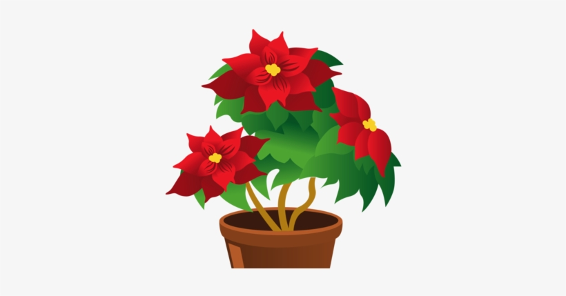 Christmas Memorial Greenery And Flowers - Flower Pot Clipart Png, transparent png #997841
