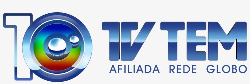 Logo Tv Tem 10 Anos Horizontal Afiliada Rede Globo - Tv Tem, transparent png #998059