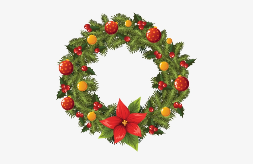 Tubes Christmas - Christmas Wreath Png, transparent png #998338