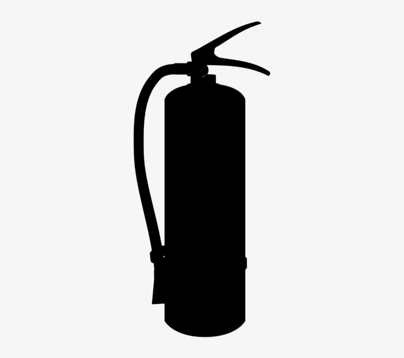 Silhouette, Extinguisher, Fire, Fire-fighting, Tool - Fire Extinguisher Silhouette, transparent png #998377