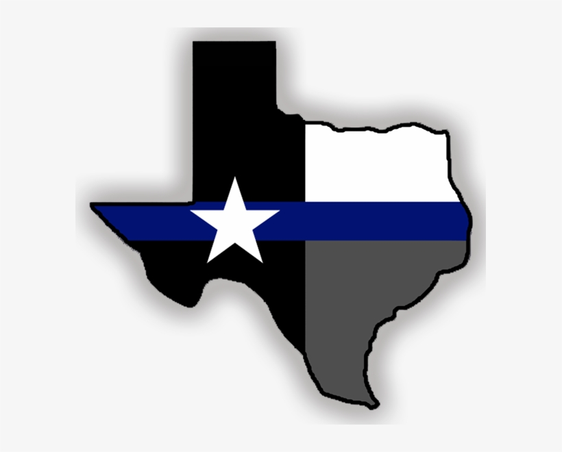 Image Result For Thin Blue Line Sticker Texas - State Of Texas Outline, transparent png #999217