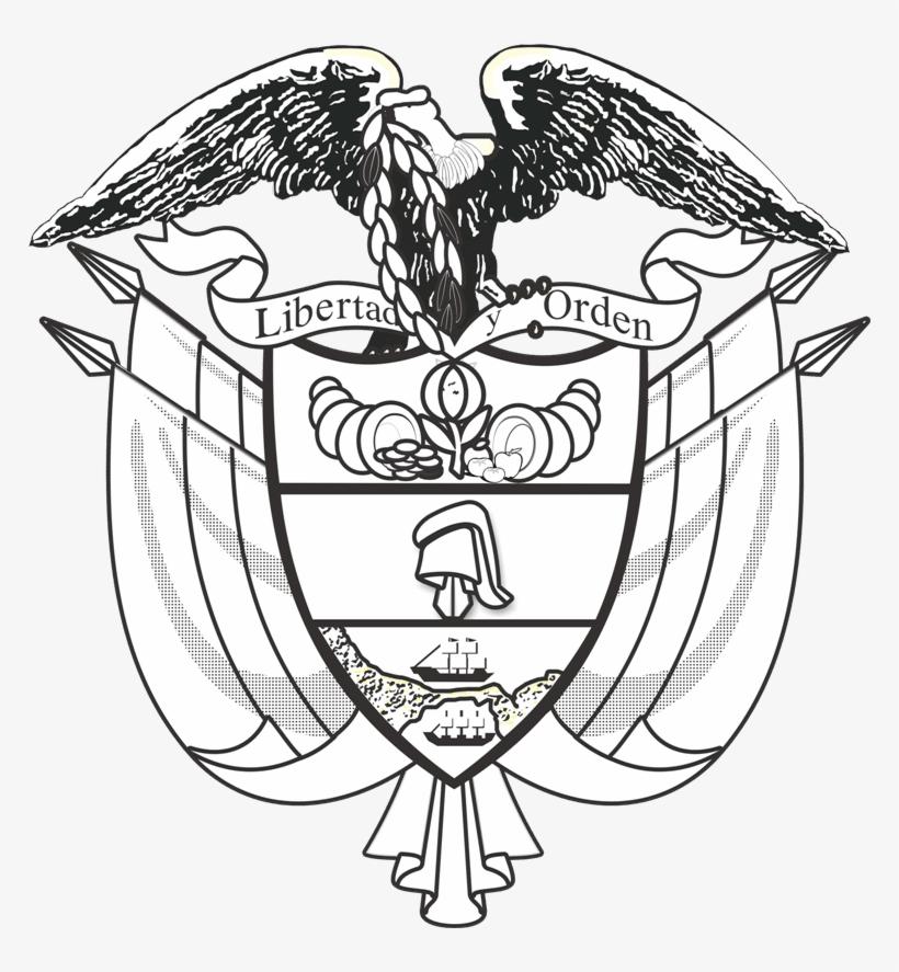 Escudo De Colombia Para Colorear Vector En Png Coat Of Arms Of