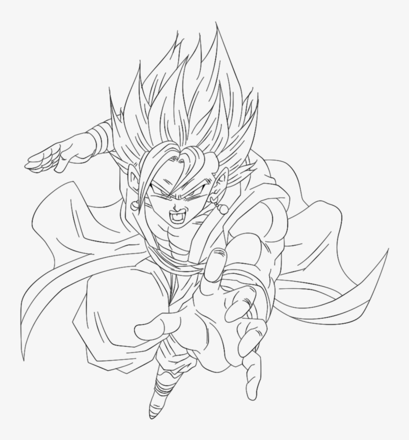 017 Malbuch Malvorlagen Vegito Potentialplayers New Vegetto Xeno Ssj4 Para Colorear Free Transparent Png Download Pngkey