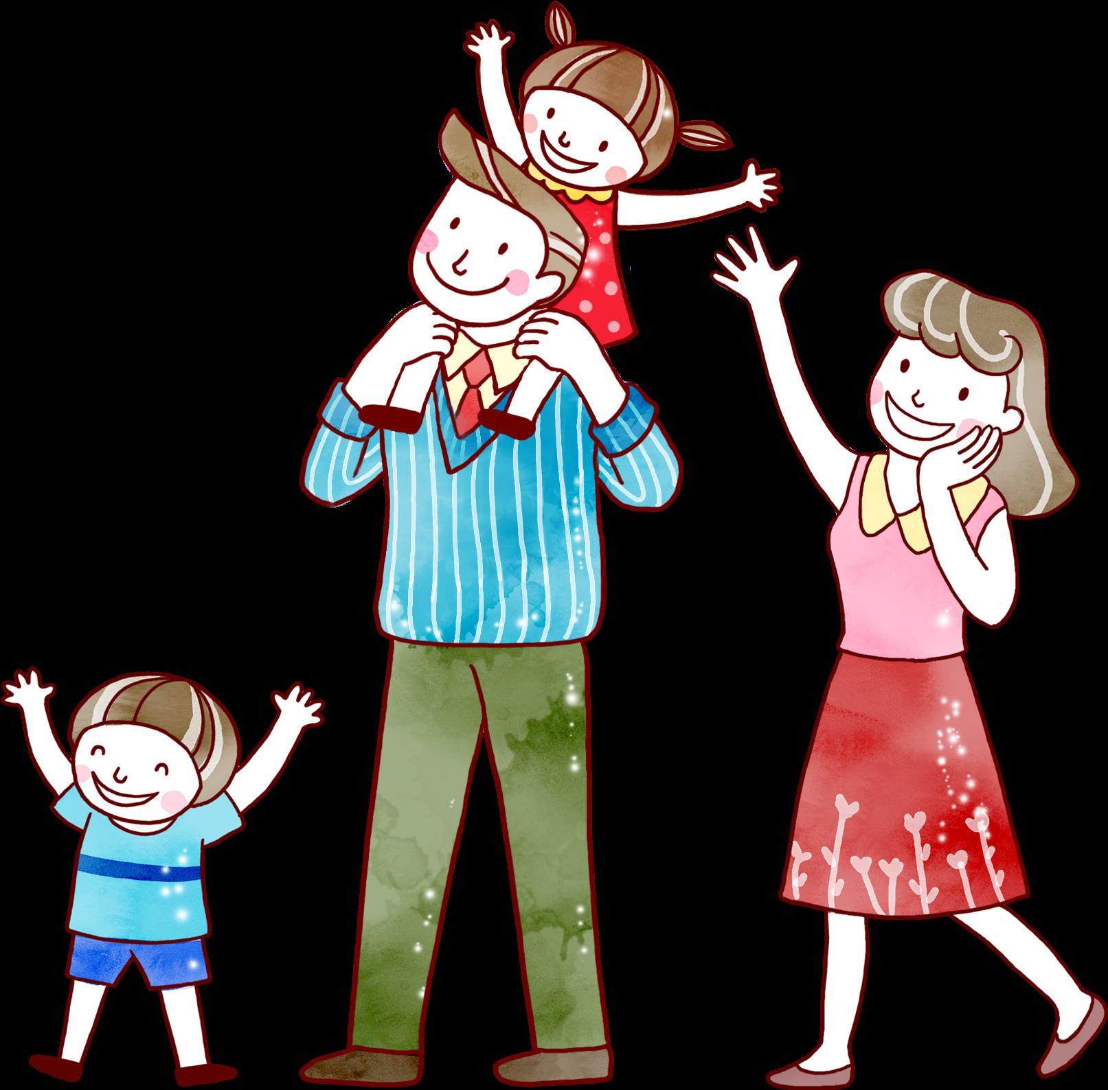 Картинка дети и родители счастливы рисунок