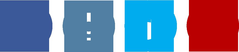 Social Sweepstakes Orangesoda Socialpromoicons - Facebook Twitter Instagram Pinterest Logo (1012x224), Png Download