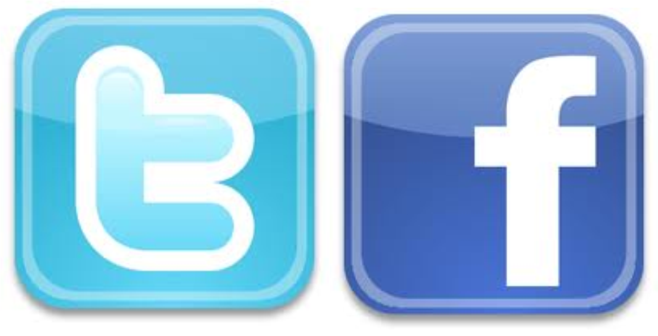 Facebook Twitter Logo Png - Twitter Facebook Logos Png (1800x1200), Png Download