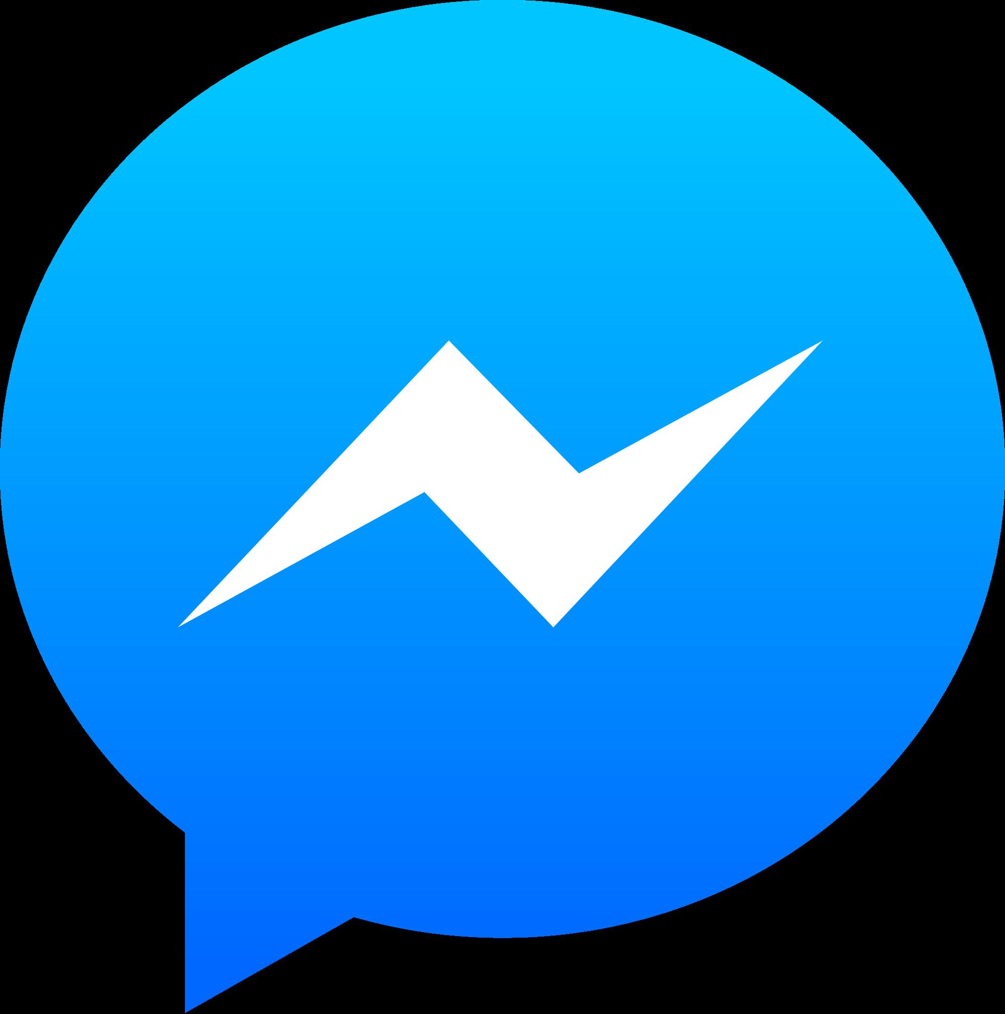 Open - Facebook Messenger Logo (2000x2018), Png Download