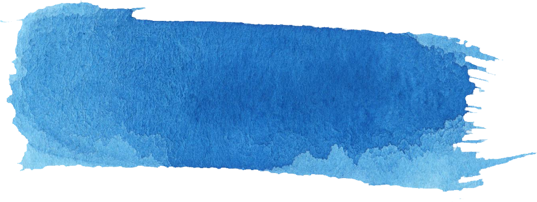 16 Blue Watercolor Brush Stroke Banner - Paint Brush Stroke Blue Png (1078x406), Png Download