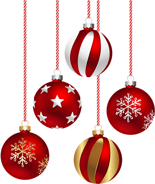 Holiday Ornament Png - Christmas Red Balls Png (517x600), Png Download