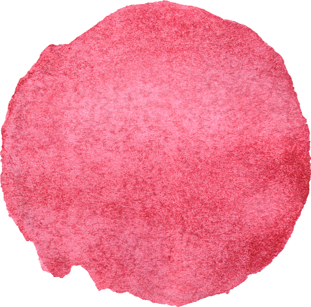 Free Download - Red Circle Watercolor Transparent (612x604), Png Download