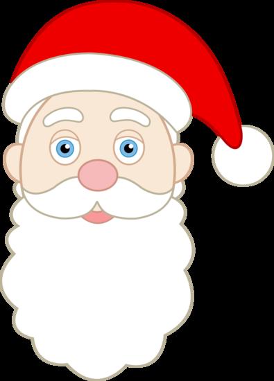 Printable Santa Face Pattern - Santa Claus Face Ki (395x550), Png Download