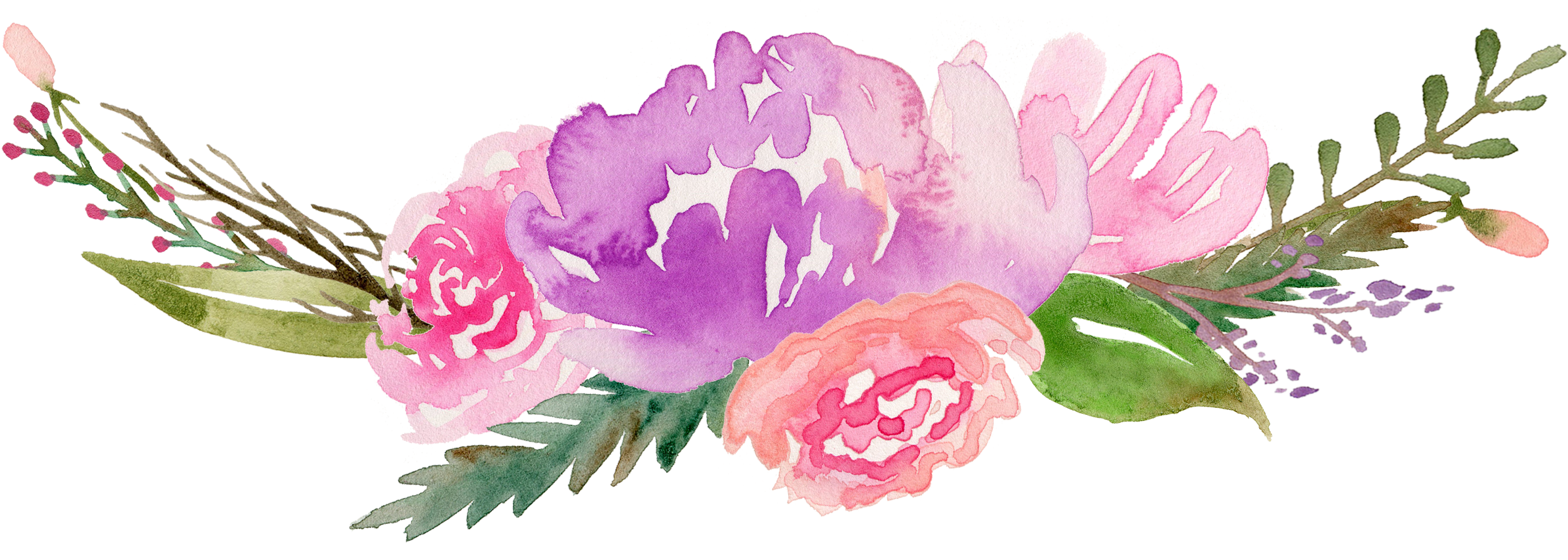 Download Royalty Free Flowers Watercolor Painting Clip Art Along