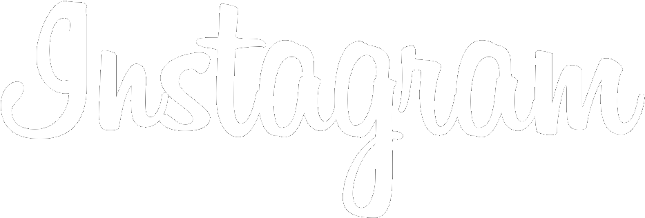 Instagram Font Logo White Png - Instagram White Text (978x373), Png Download