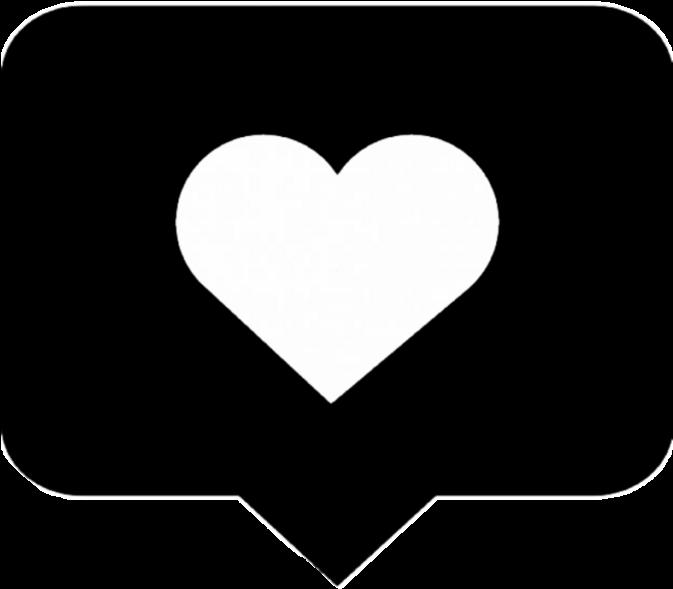 Instagram Love Heart Like Black Png Box Remix - Instagram Heart Png Black (1024x1024), Png Download