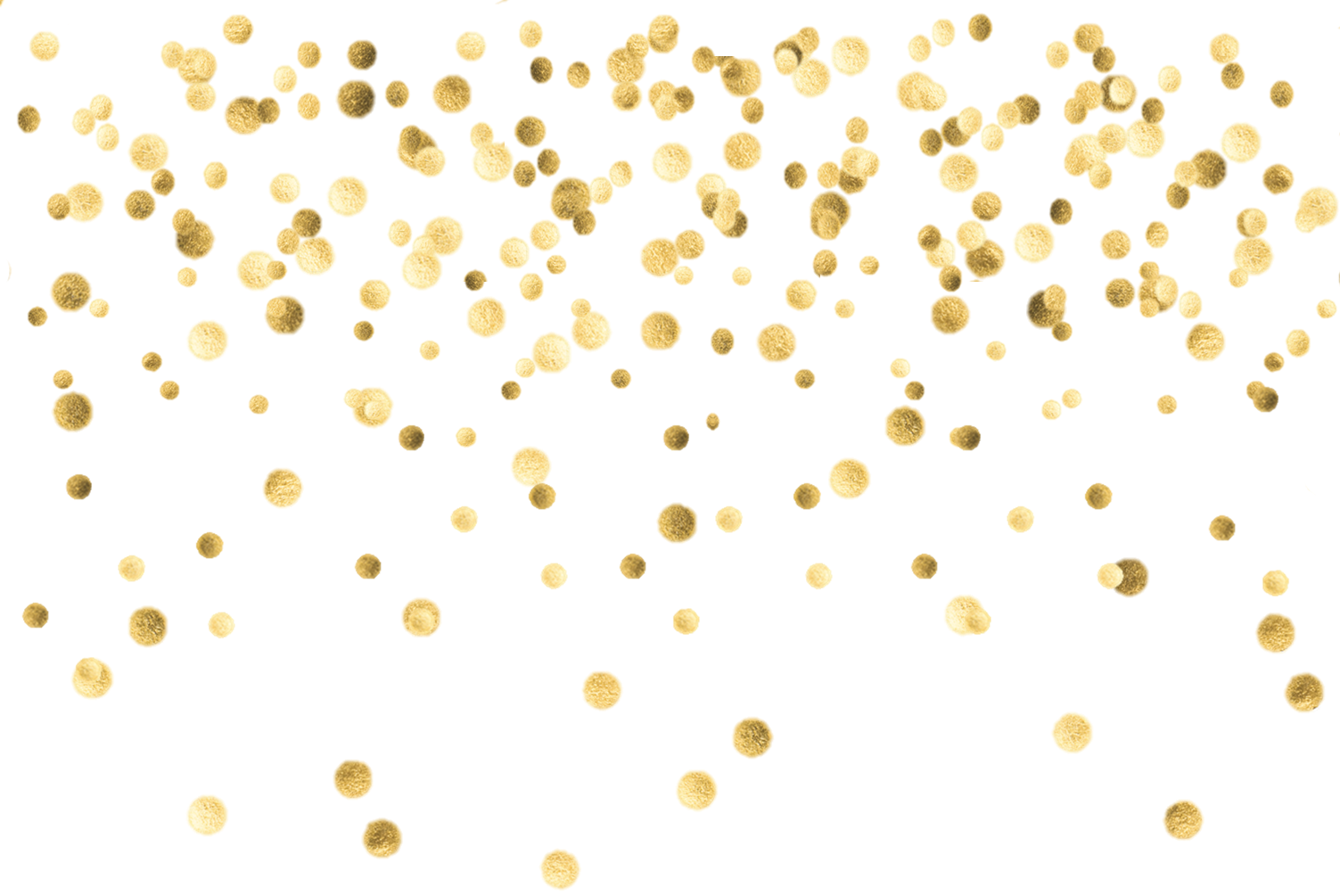 Gold Sparkle Png Transparent - Gold Confetti Transparent Background (1503x1005), Png Download