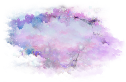 Download Purple Clouds Png - Galaxy Watercolor Transparent