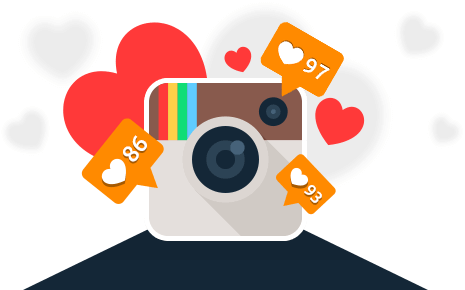 Instagram Clipart Instagram Like - Instagram Likes (465x290), Png Download